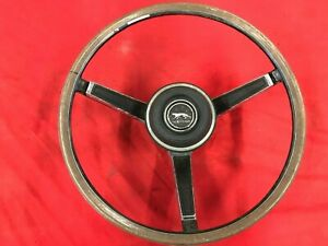 Original FoMoCo 1967 Mercury Cougar XR7 Steering Wheel Assembly Black Woodgrain