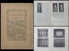 L'ART FRANCAIS MODERNE n°13 1920 ARTS APPLIQUES BRETAGNE, HENRIOT, LEMORDANT