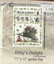 """Home Decor Garden Flag (Kitty's Delight) 11""""x15"""""""