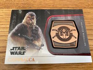 Star Wars The Force Awakens Series 1 Chewbacca Bronze Medallion #11