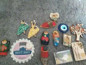 Fridge magnets bundle joblt x14 rude man flamenco slippers Russian doll ect1