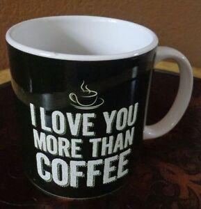 I Love You Plus Than Café XL Céramique Tasse Café Super Idée Cadeau