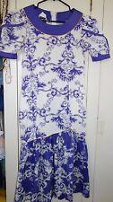 TORI RICHARD GOLDEN MONARCH COLLECTION Hawaiian Floral Muumuu Dress Frilly