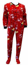 A CHRISTMAS STORY FLEECE  FOOTED ONESIE PAJAMA UNION SUIT S SMALL (3/5) JUNIORS