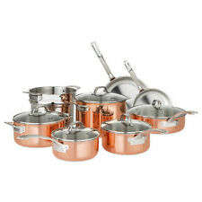 VIKING 40571-9993C, Tri-Ply 13 piece Copper Cookware Set