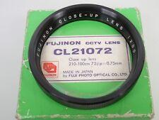 FUJINON CCTV LENS Nahlinse CL12072 Close up lens 72mm Einschraub 72mm screw in