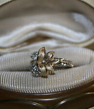 Vintage? Calla Lily flower 14k Yellow Gold vermeil/Sterling silver 925 Ring CC 7