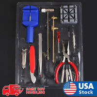 Watch Repair Tool Kit Band Pin Strap Link Remover Back Opener Remover OA 16 pcs