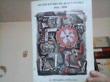 """Bibliophilie  Catalogue """"les bibliophiles de Provence"""" 1990"""