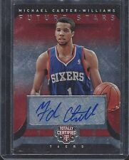 1/1 MICHAEL CARTER WILLIAMS 2014-15 TOTALLY CERTIFIED FUTURE STARS AUTO #D 1/99