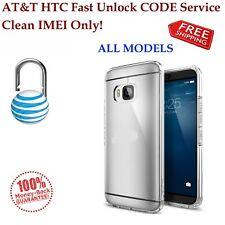 AT&T ALL HTC ONE X S V M7 M8 M9 DESIRE 601 510  Unlock CODE Service. Clean IMEI!