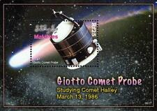 MALDIVE IS. 2008 GIOTTO SPACE PROBE S/S MNH HALLEY'S COMET -TOO EXPENSIVE FOR U?