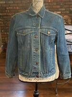 Calvin Klein Vintage Denim Jean Jacket Medium Wash Excellent Womens Small