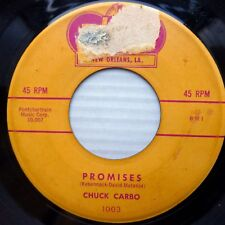 CHUCK CARBO doowop STRONG vg condition Rex 45 PROMISES b/w BE MY GIRL J988