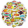 50x Random Skateboard Stickers Bomb Vinyl Laptop Luggage Decals Dope Sticker Lot