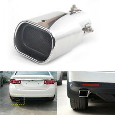 Car Straight Stainless Steel Exhaust Square Rear Tail Silencer Tip Pipe End 63mm