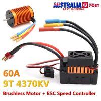 9T 4370KV Brushless Motor + 60A ESC Speed Controller Combo Set For 1/10 RC Car