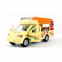 1/32 Scale Hot Dog Truck Model Car Diecast Toy Vehicle Pull Back Sound Kids Gift