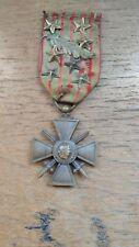 Médaille de poilu ww1 Croix de guerre 1914-1916 7 étoiles et palme