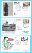 B3054 - FRANCE - 5 Enveloppes 1er Jour de 1957