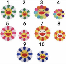 Murakami Flower Patch Iron on Sewing On Patches Embroidered Badges Rainbow