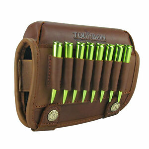 Tourbon Real Leather Rifle Cartridge Holder Buttstock Cheek Rest -Special Offer