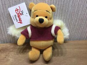 "Disney Store Winnie The Pooh Plush Soft Toy Beanie 8"" NEW RARE Dreams Wings"