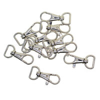10x key ring lobster clasp clip snap hook silver-plated diy jewelry findings