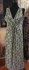 Ruby Rd. Brown & Beige Tribal Inspired Maxi Dress Size M. Modest Casual #327