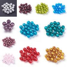 10 Pcs Handmade Silver Foil Lampwork Beads Jewelry Making 9.5~10mm Hole 1.5~2mm
