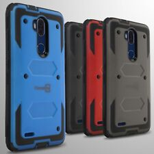 For ZTE Blade Max 3 / Max Blue Hard Case Hybrid Shockproof Phone Cover Armor