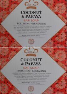 Nubian Heritage - CoConut & Papaya- (Two Pack) 5 oz Soap