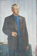 Oil painting Portrait of Sholokhov V.Davidov USSR 1975