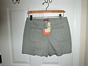 Tommy Bahama Cavalry Twill Patch Pocket Shorts Women's Size 4 Gray NWT