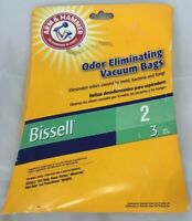 New Arm & Hammer Odor Eliminating Vacuum Bags Bissell 2 62598B 3 pack