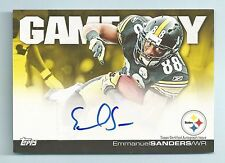 EMMANUEL SANDERS 2011 TOPPS GAME DAY SIGNATURES AUTOGRAPH AUTO