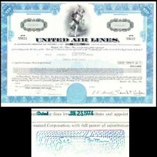 Broker Owned Stock Certificate: Salomon Brothers, payee; United Air Line, issuer