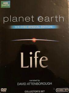 PLANET EARTH / LIFE 10 X DVD Box Set BBC Earth David Attenborough 0621 *Region 1