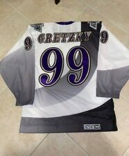 NEW GRETZKY LOS ANGELES LA KINGS BURGER KING VINTAGE CCM JERSEY Medium 1995-96