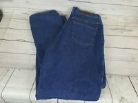 LL Bean Blue Wash Double L Relaxed Straight Fit Women Jeans Size 16T