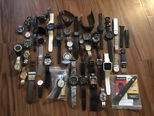Watch Lot Mostly Mens Watches Timex Orvis Seiko Samsung Swatch Casio AS-IS Parts