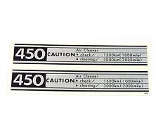 Side Cover Caution Decal Set ✰ Honda CB450K0 CB450 Black Bomber ✰ 1965 - 1968 ✰