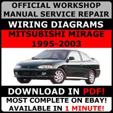 # OFFICIAL WORKSHOP SERVICE Repair MANUAL MITSUBISHI MIRAGE 1995-2003 +WIRING#