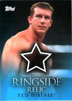 WWE Ted Dibiase 2009 Topps 2 Color Ringside Relic Event Worn Shirt Card