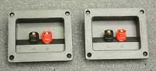 Speaker Terminals Square, Set Of Two,  Gold Post Sub Box Home Audio