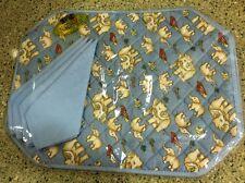 NaRaYa Adorable Blue Elephant Print Placemats Naraya