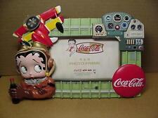 Betty Boop PICTURE FRAME COCA COLA BI-PLANE (RETIRED)