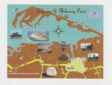 Blakeney and Blakeney Point, Norfolk Map Postcard - Mint