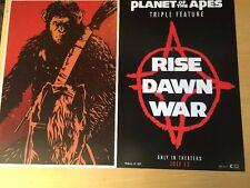Rare Triple Feature Movie Poster War For The Planet Of The Apes Exclusive Mint
