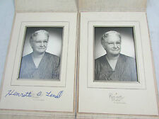 Set of 2 Vintage 1950s BW Portrait Older Woman Grandmother Terrell Family Photos